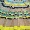 Тюль микрофатин в полоску Желто-сине-черный