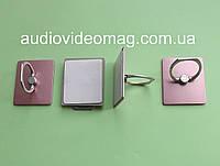 Кольцо-держатель для телефона, смартфона, металлическое, цвет - розовый, фото 1