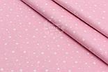 """Поплин шириной 240 см с рисунком """"Созвездие"""" на розовом (№1613), фото 2"""