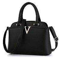 Женская сумка в стиле Valentino классическая Черный, фото 1