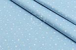 """Поплин шириной 240 см с рисунком """"Созвездие"""" на голубом (№1612), фото 2"""