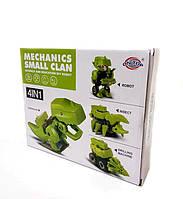 Детский конструктор 4 в 1 робот, динозавр, машина, скорпион RD611-1
