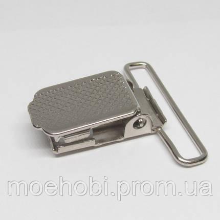 Пряжки для подтяжек (30мм) никель,  4103, фото 2