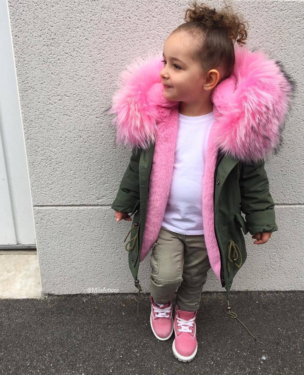 Куртка-парку зимова для дівчинки