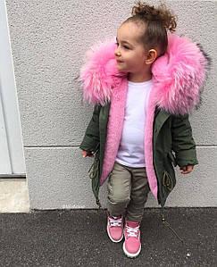 Куртка-парка  зимняя  для  дeвочки