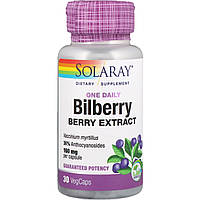 Solaray, Bilberry, One Daily, 30 Easy-To-Swallow Capsules