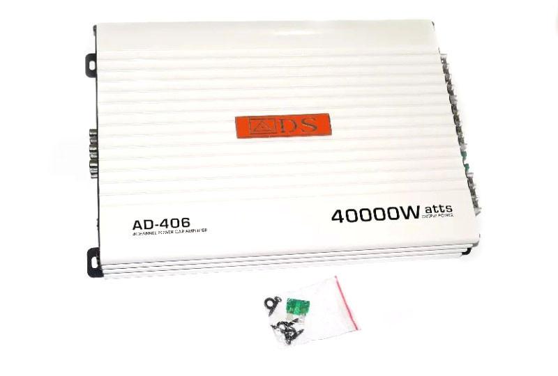 Усилитель звука автомобильный AMP AD 406 40000w