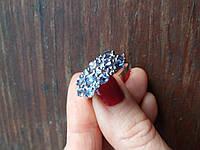 Серебряное кольцо с натуральными танзанитами