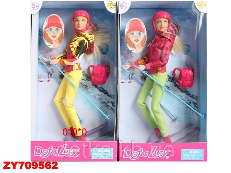 Кукла DEFA 8373 с лыжными аксессуарами