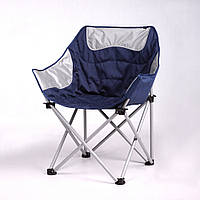 Крісло «Ракушка» сіро-синій Vitan