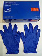 Перчатки нитриловые нестерильные, неопудренные / размер L / NITRYLEX BASIC