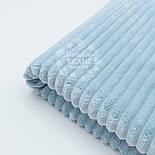 Плюш в полоску stripes бледно-голубого цвета, фото 2