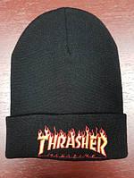 Зимняя шапка в стиле Thrasher   Топ качество!