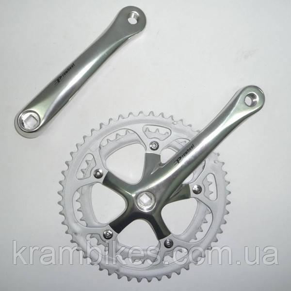 Шатуны Prowheel - 42-52T SOLID-320 Серебро