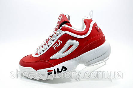 Женские кроссовки в стиле Fila Disruptor 2, Red\White, фото 2