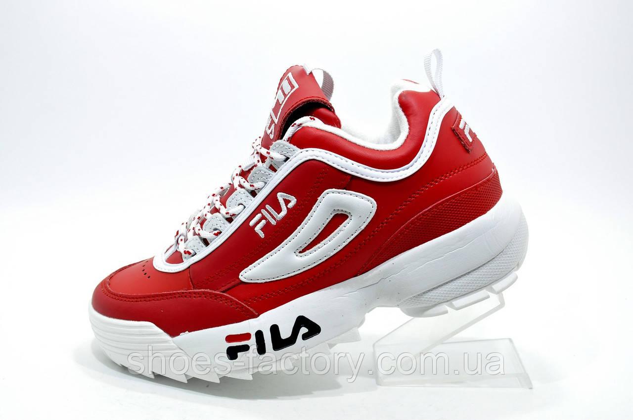Женские кроссовки в стиле Fila Disruptor 2, Red\White