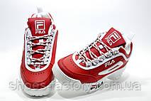 Женские кроссовки в стиле Fila Disruptor 2, Red\White, фото 3