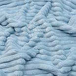 "Отрез плюша в полоску ""Stripes"" размером 100*80 см бледно-голубого цвета, фото 2"