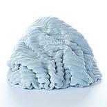 "Отрез плюша в полоску ""Stripes"" размером 100*80 см бледно-голубого цвета, фото 3"