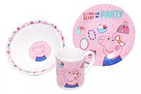 """Набор посуды для детей  """"Свинка Пеппа"""""""