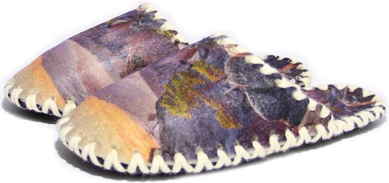 Женские фетровые тапочки 2-35 (размер 38/39)