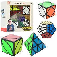 Подарочный набор Кубики Рубика Пирамида Скьюб Мегаминкс, набор головоломок,  EQY527, 009663