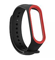 Ремешок для фитнес браслета, трекера Xiaomi Mi Band 3 (черно-красный), фото 1