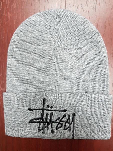 Зимняя шапка в стиле Stussy | Топ качество!