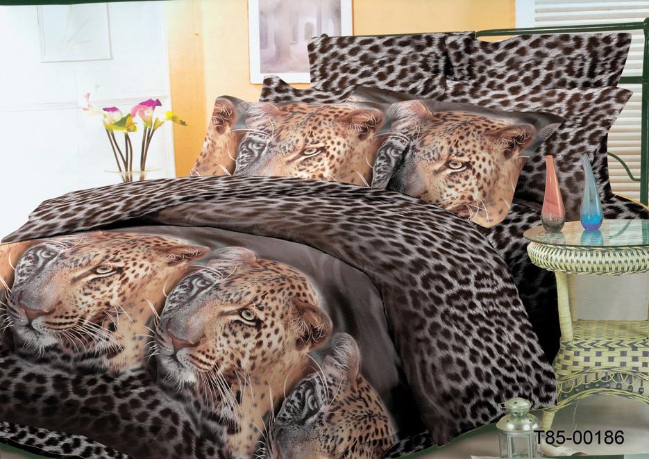 """Постельный комплект """"Черный леопард"""" из полиэстера"""