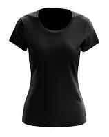 Футболка женская PREMIUM Black черная, фото 1