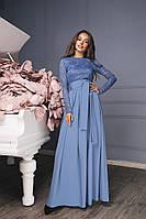 И5081/1 Женское платье с поясом , фото 1