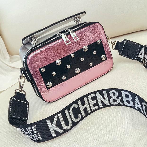 розовая маленькая сумочка через плечо