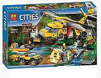 """Конструктор Bela 10713 """"Вертолёт для доставки грузов в джунгли"""" 1298 деталей. Аналог LEGO City 60162 KK"""