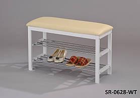 Скамейка с подставкойдля обуви SR-0628-WT