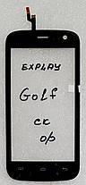 Сенсор (тачскрін) для Explay Golf чорний, фото 3