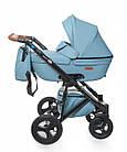 Детская коляска универсальная 2 в 1 Broco Capri blue (Броко Капри, Польша), фото 2