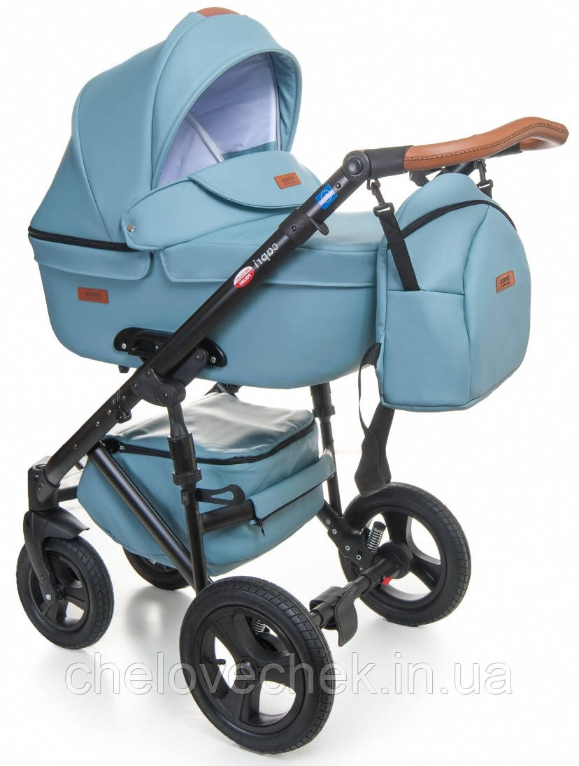 Детская коляска универсальная 2 в 1 Broco Capri blue (Броко Капри, Польша)
