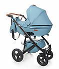 Детская коляска универсальная 2 в 1 Broco Capri blue (Броко Капри, Польша), фото 3