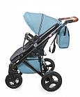 Детская коляска универсальная 2 в 1 Broco Capri blue (Броко Капри, Польша), фото 4