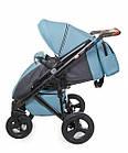 Детская коляска универсальная 2 в 1 Broco Capri blue (Броко Капри, Польша), фото 5