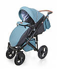Детская коляска универсальная 2 в 1 Broco Capri blue (Броко Капри, Польша), фото 6
