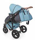 Детская коляска универсальная 2 в 1 Broco Capri blue (Броко Капри, Польша), фото 7