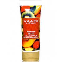 Освежающая фруктовая маска для лица. Яблоко, Лимон и Огурец, 120 г
