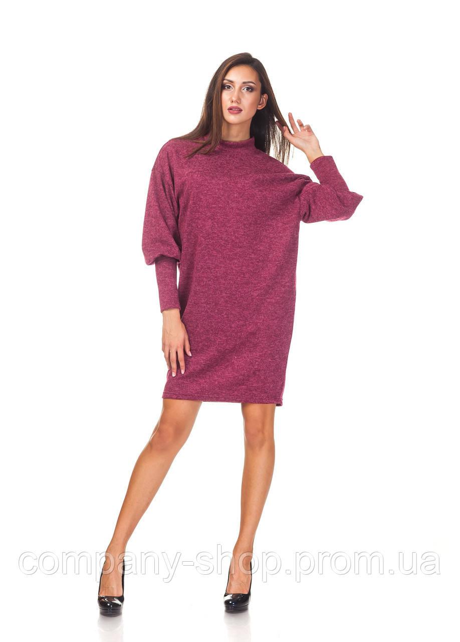 Ангоровое платье опт. П093_бордовая ангора
