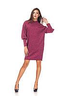 Ангоровое платье опт. П093_бордовая ангора, фото 1