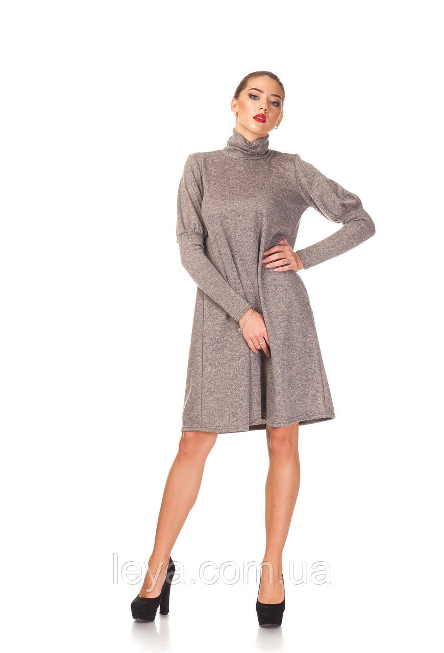 Ангоровое платье Оверсайз оптом. П099_бежевый.