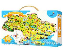 Пазл Карта Украины Мапа України Пазлы 100 эл. ДоДо DoDo 300109 009870