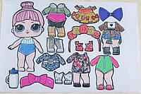 Фетр с  рисунком принтом кукла Лол 14
