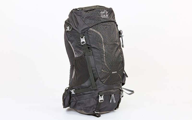 Рюкзак туристический с каркасной спинкой COLOR LIFE V-50л black TY-5308