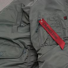 Куртка зимняя slim fit аляска n-3b Gray, фото 3